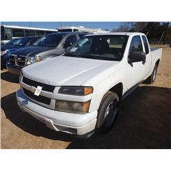 2008 CHEVROLET COLORADO PICKUP TRUCK, VIN/SN:1GCCS299088189945 - EXT CAB, GAS ENGINE, A/T, ODOMETER