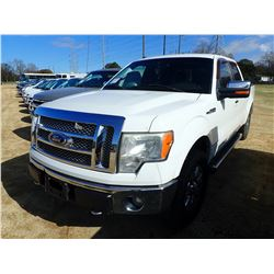 2011 FORD F150 PICKUP TRUCK, VIN/SN:1FTFW1EF0BFB88286 - 4X4, CREW CAB, GAS ENGINE, A/T, METER READIN