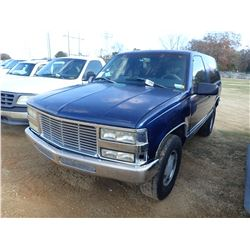 1997 CHEVROLET TAHOE VIN/SN:3GNEK1HR5VG162385 - 4X4, GAS ENGINE, A/T, ODOMETER READING 191,393 MILES