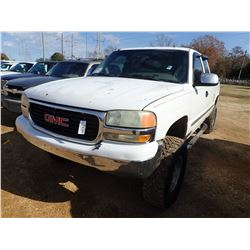 2002 GMC SEIRRA Z71 PICKUP TRUCK, VIN/SN:2GTEK19T721341213 - EXT CAB, GAS ENGINE, A/T, ODOMETER READ