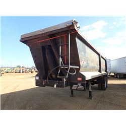 DUMP TRAILER, - T/A, 28' LENGTH, FRAME TYPE, 11R24.5 TIRES (BILL OF SALE ONLY)