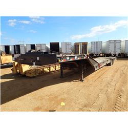 """2008 PITTS LOWBOY TRAILER, VIN/SN:5JYHD35258P0-757 - T/A, 49' LENGTH, 102"""" WIDTH, HYDRAULIC DOVETAIL"""