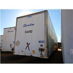 2004 STOUGHTON ZPW-535T-S-C-AR VAN TRAILER, VIN/SN:1DW1A53284S712241 - T/A, 53' LENGTH, BARN DOOR