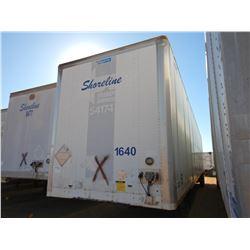 2004 STOUGHTON ZPW-535T-S-C-AR VAN TRAILER, VIN/SN:1DW1A53224S712123 - T/A, 53' LENGTH, BARN DOOR