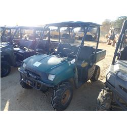2006 POLARIS RANGER 500 EFI VIN/SN:4X9RD50AZ6D749196 - 4X4, GAS ENGINE, ROLL BAR, DUMP BED, WINCH, M