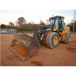 2015 JOHN DEERE 644K WHEEL LOADER, VIN/SN:664878 - COUPLER, BUCKET, FORKS, CAB, A/C, METER READING 3