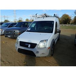 2012 FORD CONNECT CARGO VAN, - GAS ENGINE, A/T, ODOMETER READING 36,757 MILES