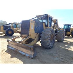 TIGERCAT 620C SKIDDER, VIN/SN:620812 - GRAPPLE, DUAL ARCH, WINCH, CAB, A/C, 30.5R-32 TIRES, METER RE