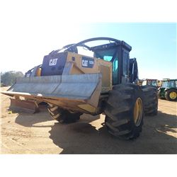 CAT 525D SKIDDER, VIN/SN:GKP00399 - GRAPPLE, DUAL ARCH, WINCH, CAB, A/C, 30.5-32 TIRES, METER READIN