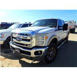 2011 FORD F250 PICKUP TRUCK, VIN/SN:1FT7W2BT5BEA05166 - 4X4, CREW CAB, FORD POSERSTROKE DIESEL ENGIN