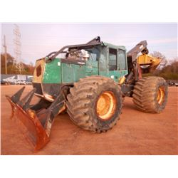 TIMBERJACK 660D SKIDDER, VIN/SN:001257 - GRAPPLE, DUAL ARCH, WINCH, CAB, A/C, 73X44.00-32 TIRES, MET