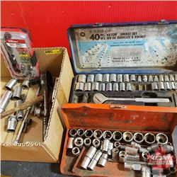 Tray Lot: Variety of Sockets and Ratchets