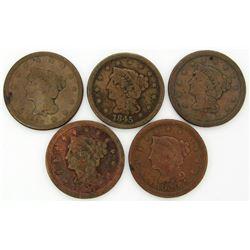 1840, 1845, 1847, 1850, 1851