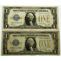 "2 - ""FUNNY BACK"" SILVER CERTIFICATES"