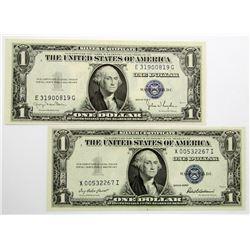 2-CU $1 SILVER CERTIFICATES