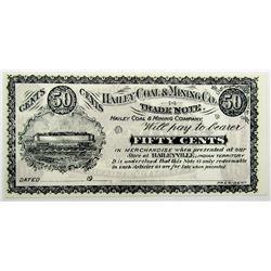 1900's HAILEY COAL & MINING TRADE NOTE