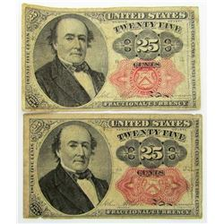 2-1874 25c FRACTIONAL CURRENCY NOTES