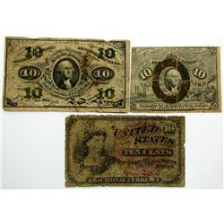 3-1863 10c FRACTIONAL NOTES