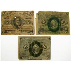 3-1863 FRACTIONAL CURRENCY NOTES