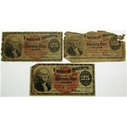 3-1863 TWENTY FIVE CENT FRACTIONAL