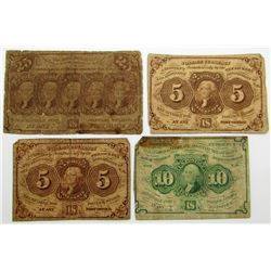 3-POSTAL CURRENCY NOTES