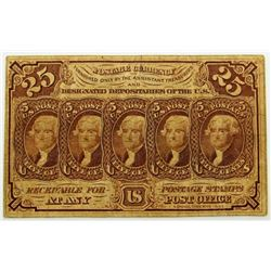 1862 25c POSTAL CURRENCY