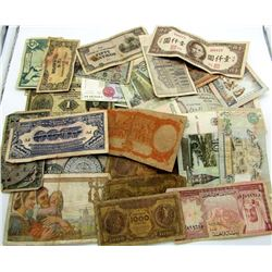 25 pc FOREIGN CURRENCY / NOTES