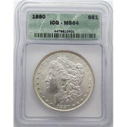 1880-P Morgan Silver Dollar ICG MS 64