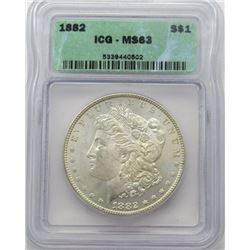 1882-P Morgan Silver Dollar ICG MS 63