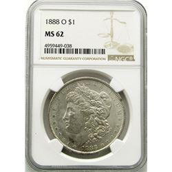 1888-O Morgan Silver Dollar $ NGC MS 62