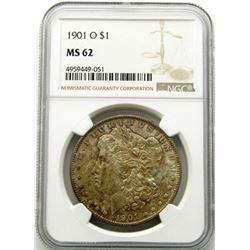 1901-O Morgan Silver Dollar $ NGC MS 62 Toned