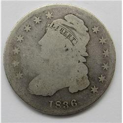 1836 CAPPED BUST HALF DOLLAR GOOD