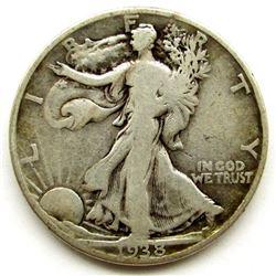 1938-D WALKING LIBERTY HALF DOLLAR