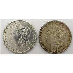 1901-O & 1898 MORGAN SILVER DOLLARS AU/BU