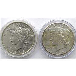 1922-S & 1923 PEACE DOLLARS