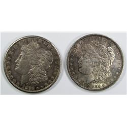 1884-O & 1897-S MORGAN DOLLARS