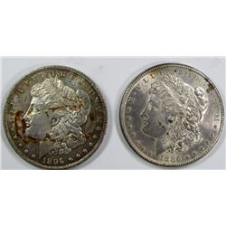 1896 & 1886 MORGAN DOLLARS