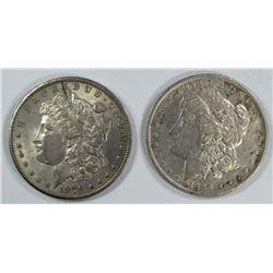 1879-O AU & 1889-O VF MORGAN DOLLARS