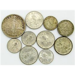 10 - USA/PHILIPPINES SILVER COINS