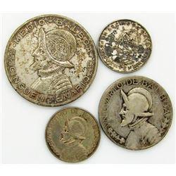 4 - BALBOA SILVER COINS