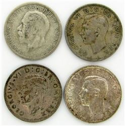 4 - GREAT BRITAIN ONE FLORIN SILVER COINS