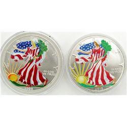 1999 & 2018 AMERICAN SILVER EAGLES