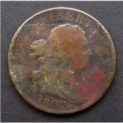1807 DRAPPED BUST HALF CENT GOOD
