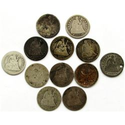 12-SEATED DIMES AG MIXED DATE/