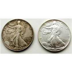 1991 & 1992 .999 SILVER ONE OUNCE EAGLE