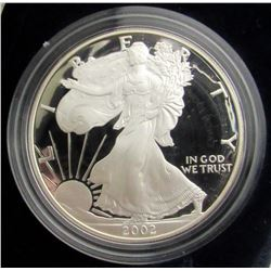 2000 & 2002 PROOF AMERICAN SILVER EAGLE