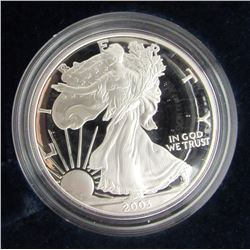 1988 & 2003 PROOF AMERICAN SILVER EAGLE