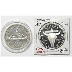1959 CANADA SILVER DOLLAR & 1982