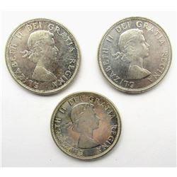 3-1964 CANADA SILVER DOLLARS