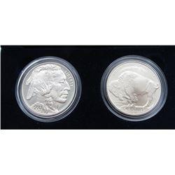 2001 AMERICAN BUFFALO 2 COIN SET